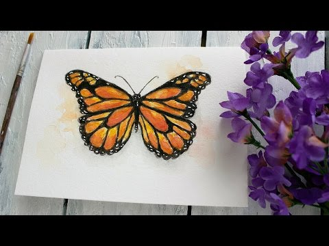 5-Day Spring Watercolor Card Challenge | Day -2 Butterfly Tutorial