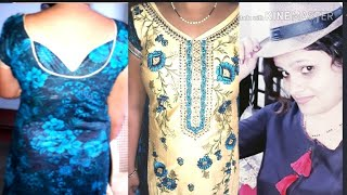 How to do designer suit cutting and stitching in hindi step by step