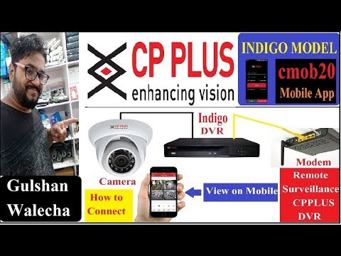 How to Setup CP Plus Indigo Model Online Through [CMOB20] Complete Setup in  Hindi!