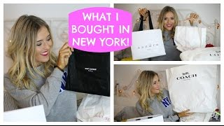 NYC HAUL - WHAT I BOUGHT IN NEW YORK! AMERICAN CANDY, WOODBURY COMMON, YSL BAG & MORE | EmTalks