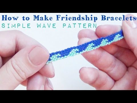 Simple Wave Pattern ♥ How to Make Friendship Bracelets