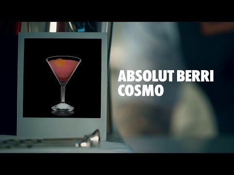 ABSOLUT BERRI COSMO DRINK RECIPE - HOW TO MIX