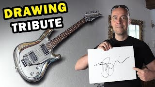 Drawing Joe Satriani's guitar | Remake With Right Music and Special Ending
