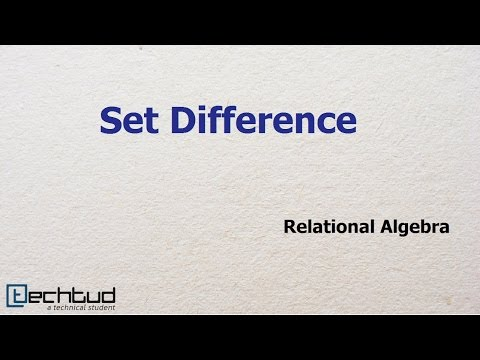 Set Difference in Relational Algebra
