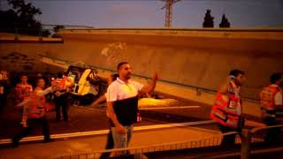 Pedestrian Bridge Collapses On Truck On Israel Highway 4