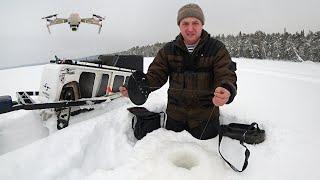 Трое суток на Льду Озеро Таёжное Безымянное Рыбалка с Подписчиком День первый