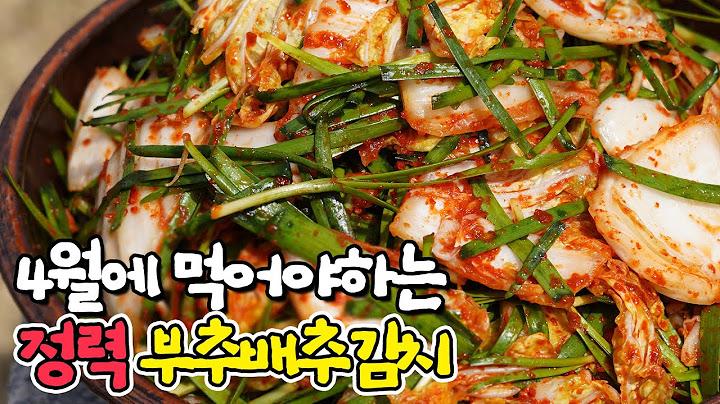 봄김치 추천! 집나간 입맛과 기력 찾아주는 부추배추김치! 👉마지막 봄배추김치