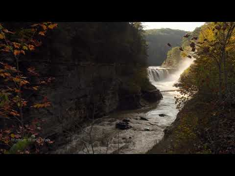 Waterfall Sounds For Sleeping White Noise Lower Falls From Bridge At Letchworth Park 10 Hours 60fps