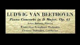 Beethoven / Artur Balsam, 1952: Piano (Violin) Concerto in D major, Op. 61a - Movement 1