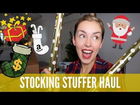 What's In My Kids' Christmas Stockings: Amazon Prime + Dollar Store HAUL | AmandaMuse