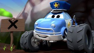 Monster Truck -  Malcolm il Monster DETECTIVE annusa qualcosa di BUONO! - Monster Town