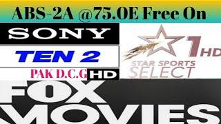 GOOD  NEWS SONY TEN 2 HD FOX MOVIES HD STAR SPORTS SELECT 1 HD Free On ABS-2A @75.0E