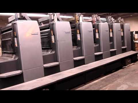 Heidelberg 8 Color Sheet Fed Printing Press Model SM102-8-P5+L,
