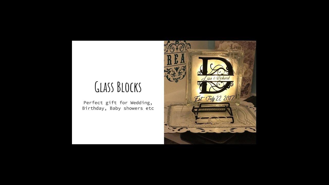 ✨Split monogram for glass block for Cricut / How to ✨✨