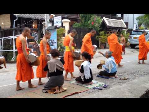 Tak Bat in Luang Prabang, Laos