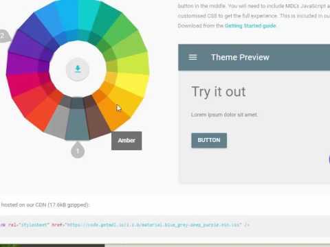Intro to using Material Design Lite