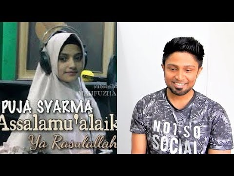 Assalamu'alaika (Cover) Puja Syarma REACTION