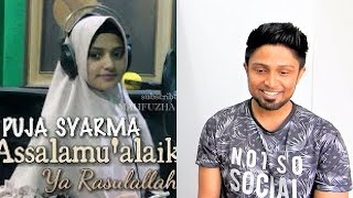 Assalamu'alaika (Cover) Puja Syarma REACTION