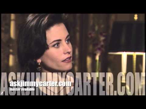 Courteney Cox interview Ace Ventura 1994 Jimmy Carter