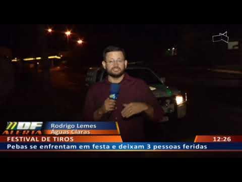 DF ALERTA -  Pebas se enfrentam em festa e deixam 3 pessoas feridas