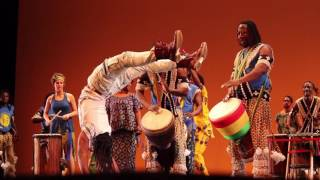 vuclip Acrobat friends spontaneously take over stage at African drum concert