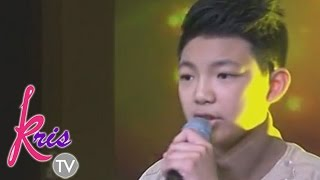 "Darren Espanto sings of ""Thinking Out Loud"" on Kris TV"