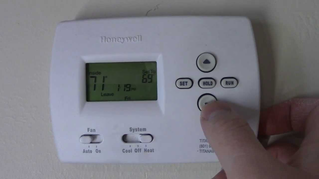 a c thermostat wiring diagram c  mo programar su termostato honeywell youtube  c  mo programar su termostato honeywell youtube