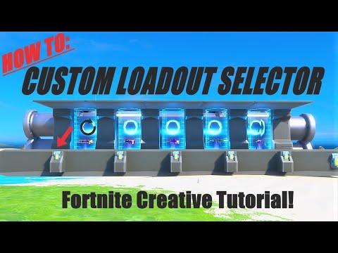 How To Make Custom Loadout Selector In Fortnite Creative! (Tutorial)