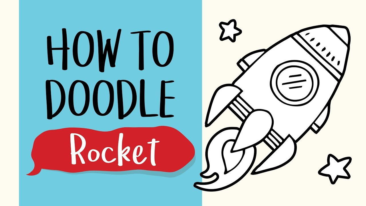 How To Draw A Space Rocket (Easy Step By Step Drawing And