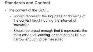 Writing SLOs Using Sample Data -- Module 5A 3 of 4