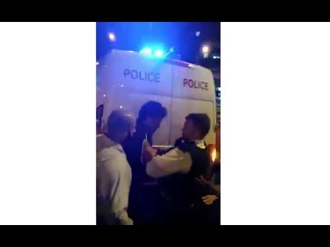 Finsbury Park Mosque: VIDEO OF SUSPECT ARREST: Van hits pedestrians