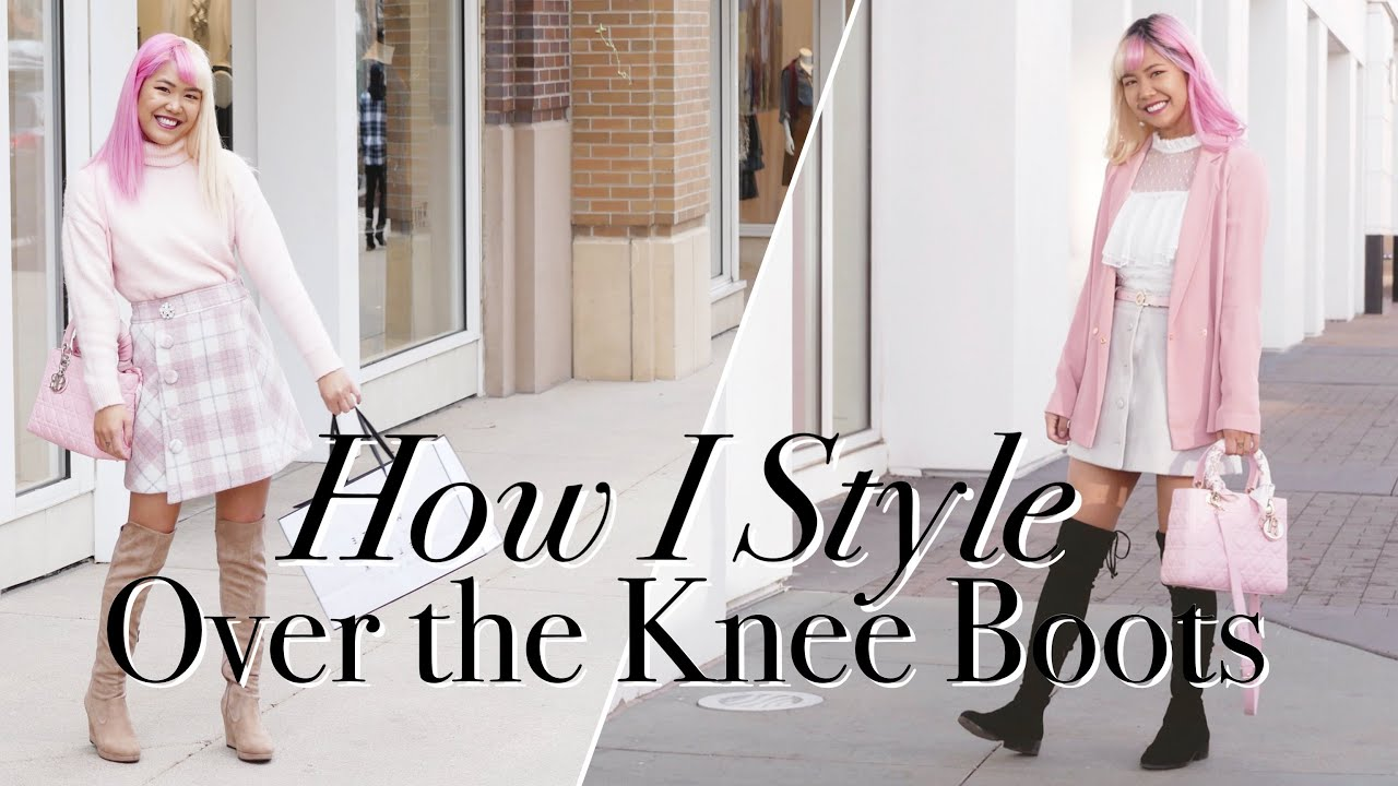 HOW I STYLE OVER THE KNEE BOOTS ♡ Cute & Girly Winter Outfits ♡ xsakisaki 8