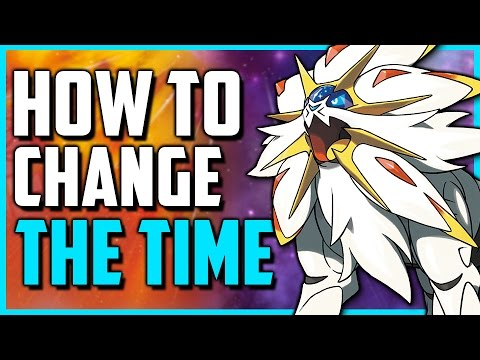 pokemon ultra moon how to change the time