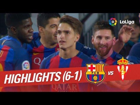 Resumen de FC Barcelona vs Sporting de Gijón (6-1)