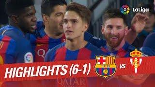 vuclip Resumen de FC Barcelona vs Sporting de Gijón (6-1)