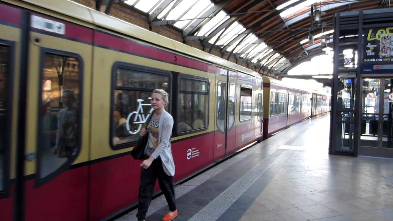 Berlin S-Bahn at Station - YouTube