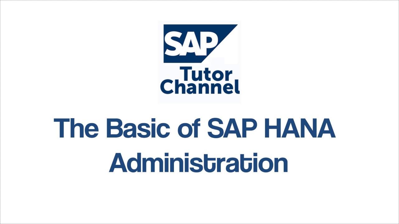 The Basic of SAP HANA Administration