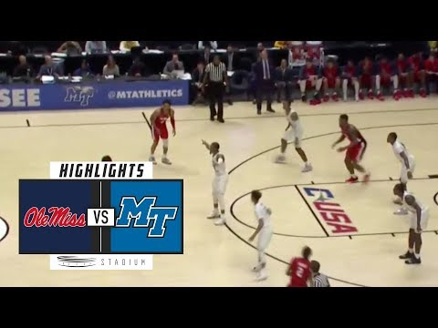 Ole Miss vs. Middle Tennessee Basketball Highlights (2018-19) | Stadium
