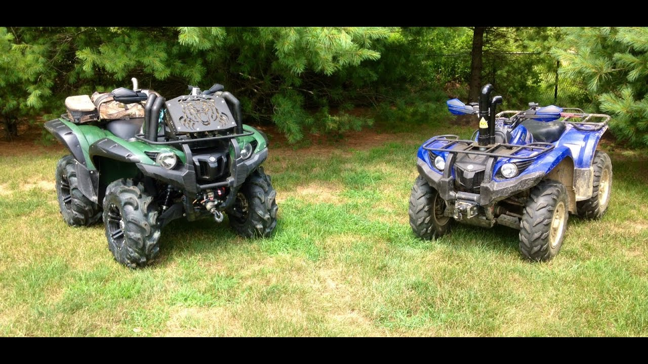Yamaha Grizzly 450 >> MMB- DRAG RACE-Mud modded Grizzly 700 vs Grizzly 450 - YouTube