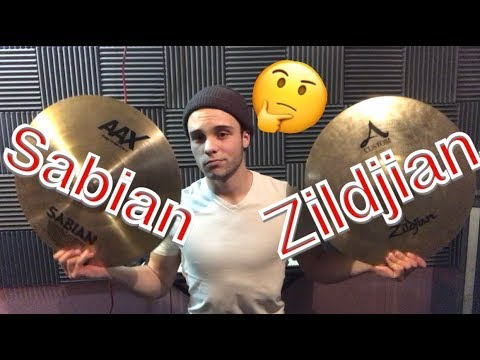 SABIAN VS. ZILDJIAN! WHICH ONE SOUNDS BETTER?? WHICH ONE SHOULD YOU BUY??