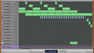 Background Track 1 created in GarageBand
