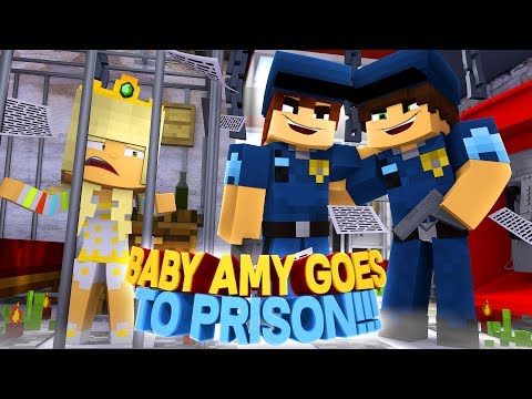 Thumbnail: BABY AMY GETS ARRESTED & GOES TO PRISON-WHAT DID SHE DO??? Into The Future- Baby Leah Minecraft