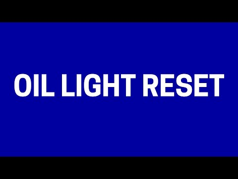 Dashboard Maintenance Light Reset