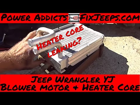 Jeep Wrangler YJ - Heater core and blower motor swap - pt1