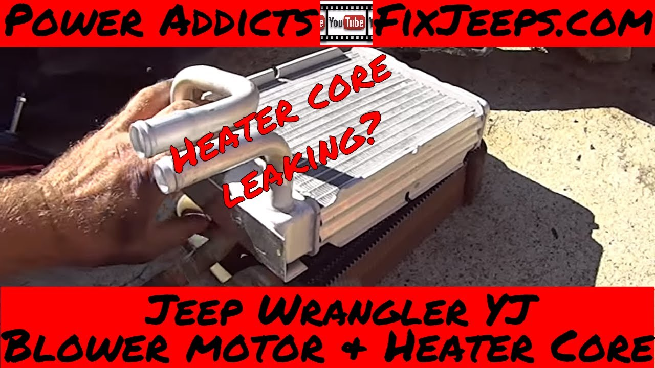 hight resolution of jeep wrangler yj heater core and blower motor swap pt1