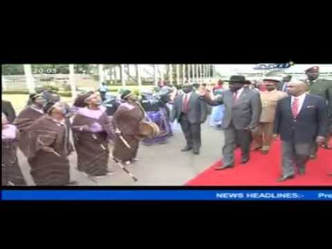 S. Sudan's Kiir return juba after attending original Summit in Nairobi