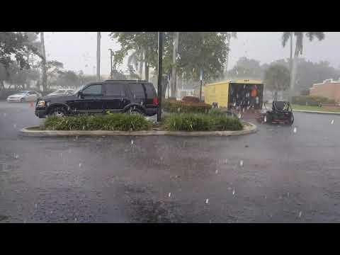 Thunderstorm in Pembroke Pines, FL - 4K