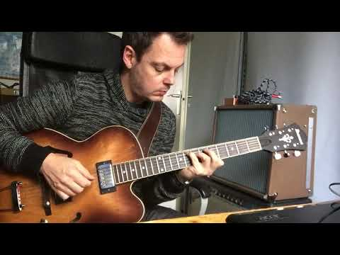 Ibanez AF55-TF through Fender Blues Deluxe