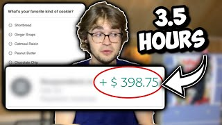 I Tried Secret ONLINE SURVEYS For Money [How Much I Made] thumbnail