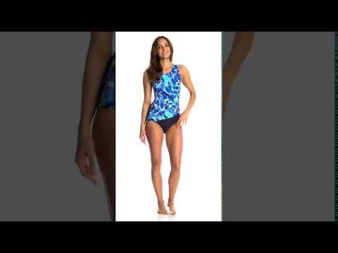 T.H.E Summer Breeze Mastectomy Drape One Piece Swimsuit | SwimOutlet.com